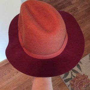 Fashion hat orange maroon VA Tech colors Hokies